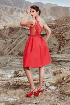 cocktail φορεμα κόκκινο atelier tsourani